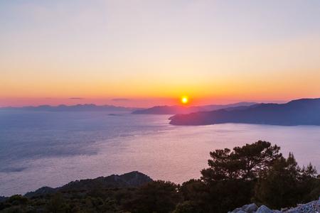 Beautiful sea coast in Turkey