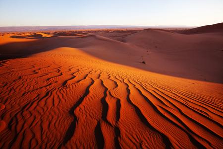 リモート砂漠の自然のままの砂丘