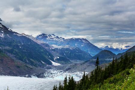 Salmon glacier in Stewart, Canada