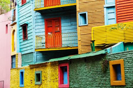 Bright colors of Caminito in La Boca neighborhood of Buenos Aires Stock Photo
