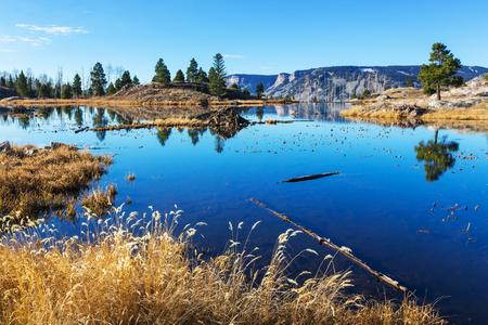 aspen tree: Mountain Landscape in Colorado Rocky Mountains, Colorado, United States. Stock Photo