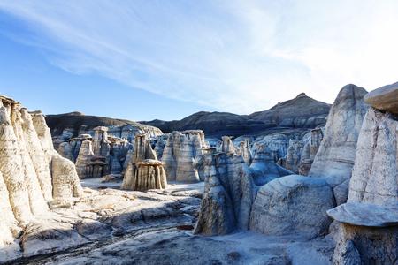 geological formation: Bisti badlands, De-na-zin wilderness area,  New Mexico, USA