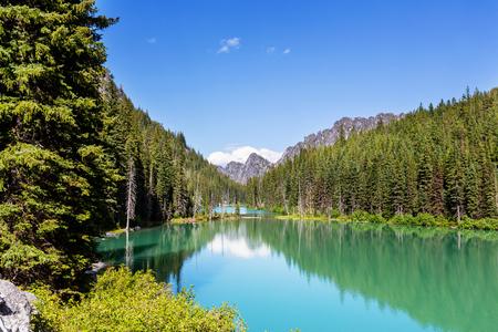 Beautiful Alpine lakes wilderness area  in Washington, USA Stock Photo