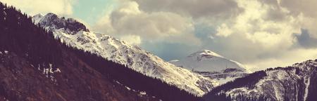 コロラド州ロッキー山脈、コロラド州の山の風景はアメリカ合衆国です。