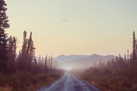 mountainous: Scenic highway in Alaska, USA
