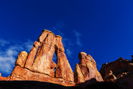geological formation: Canyonlands National Park Stock Photo