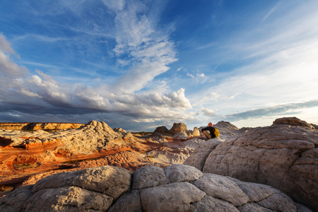 Hike in the Utah mountains Stock Photo