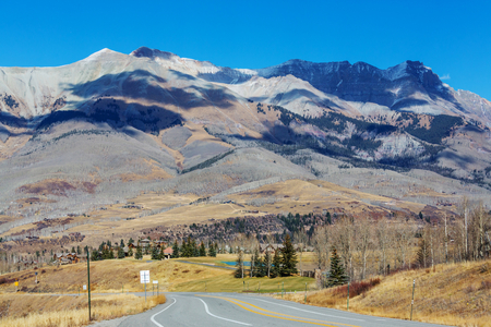 wide wet: Mountain Landscape in Colorado Rocky Mountains, Colorado, United States. Stock Photo