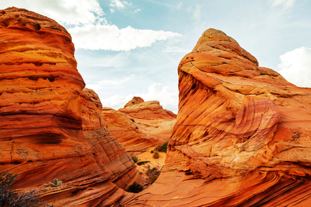Coyote Buttes of the Vermillion Cliffs Wilderness Area, Utah and Arizona Banco de Imagens