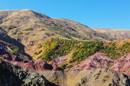 Picturesque rural landscapes in Turkey. Autumn season.