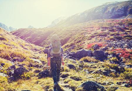 Hike in Kackar Mountains in eastern Turkey, autumn season. Stock Photo