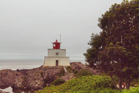 Lighthouse in Vancouver island Stok Fotoğraf
