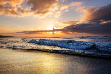 Scenic Colorful Sunset At The Sea Coast Good For Wallpaper Or Background Image Stock Jpg 450x300