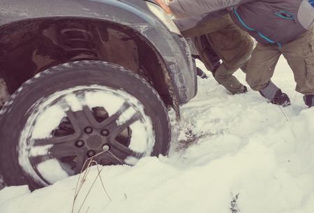 car got stuck Reklamní fotografie