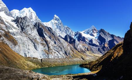 The three lagoons at the Cordillera Huayhuash, Peru Banco de Imagens