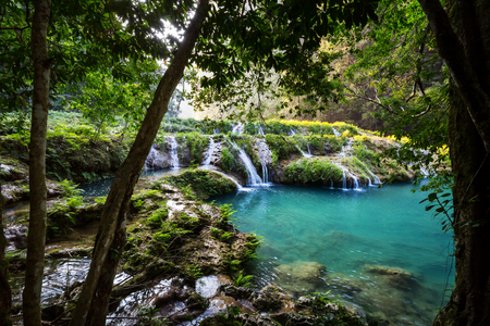 Beautiful natural pools in Semuc Champey, Lanquin, Guatemala, Central America Stock Photo - 96872221