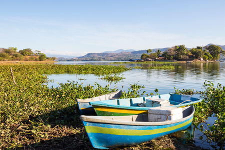 Boats on the lake, El Salvador, Central America