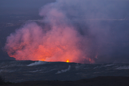 Kilauea Active Volcano on Big Island, Hawaii