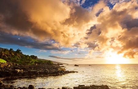 Beautiful tropical landscapes on Maui island, Hawaii Stock Photo