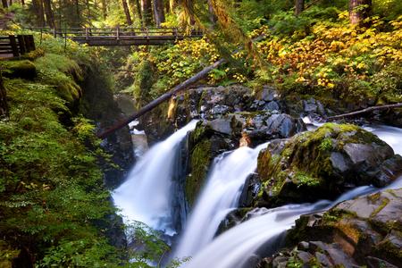 Sol Duk waterfall in Olympik NP,USA Stock Photo