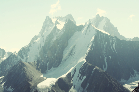 Beautiful high mountain in Pamir Stock Photo