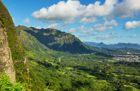 Beautiful landscapes in Oahu island, Hawaii Stock Photo