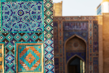 Architectural detail in ancient architecture. Usbekistan, Samarkand.