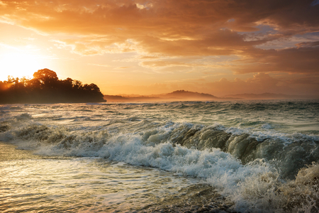 Beautiful tropical Pacific Ocean coast in Costa Rica Stock Photo