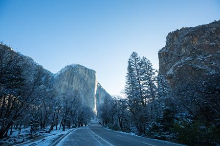 Beautiful early spring landscapes in Yosemite National Park, Yosemite, USA
