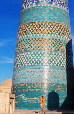 Ancient city of Khiva, Uzbekistan. Stock Photo - 106634615