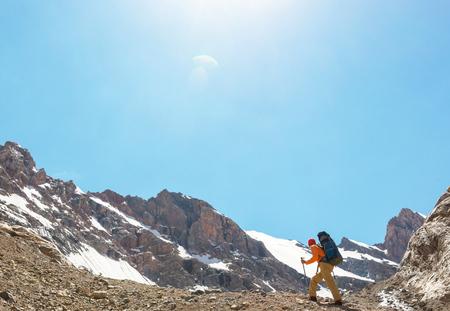 Beautiful landscape of Fanns Mountains, Tajikistan Stock Photo
