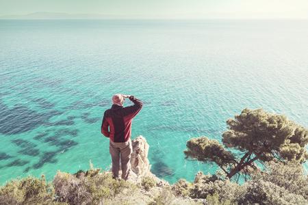 Beautiful rocky coastline in Greece