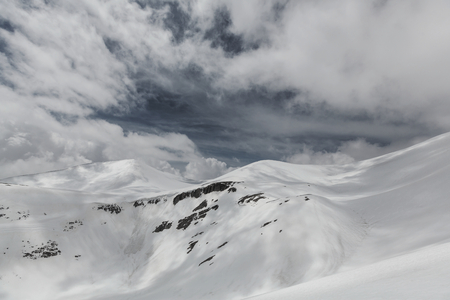 Snow covered mountains in winter season