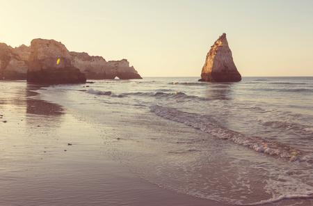 Atlantic ocean coast in Portugal Stock Photo