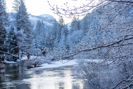 Winter season in Yosemite National Park, California, USA