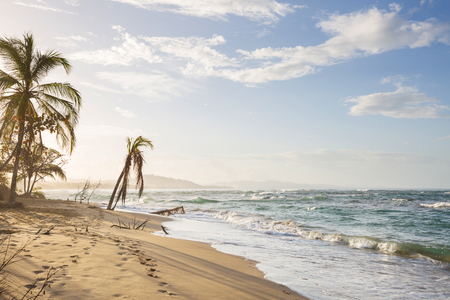 Beautiful tropical Pacific Ocean coast in Costa Rica Stock Photo
