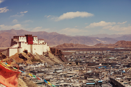 Panchen Lama residency called Little Potala in Shigatse city, Tibet, China.