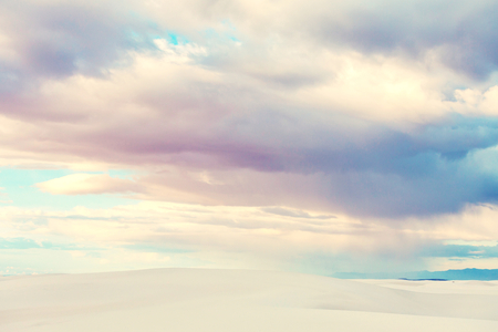Unusual White Sand Dunes at White Sands National Monument, New Mexico, USA Banque d'images - 116455745