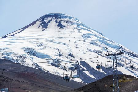 Osorno volcano in Parque Nacional Vicente P�rez Rosales, Lake District, Puerto Varas, Chile.