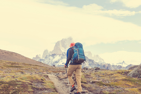 Hike in the Patagonian mountains, Argentina