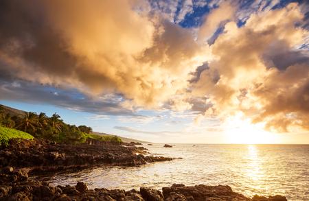 Beautiful tropical landscapes on Maui island, Hawaii 版權商用圖片