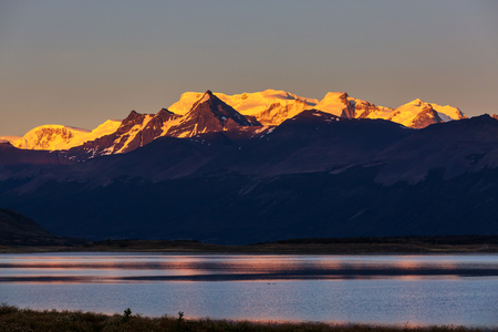 Beautiful mountain landscapes in Patagonia. Mountains lake in Argentina, South America. Reklamní fotografie