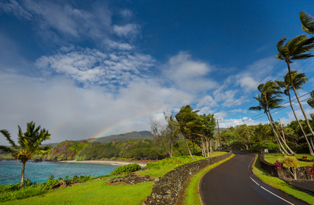 Beautiful tropical landscapes on Maui island, Hawaii