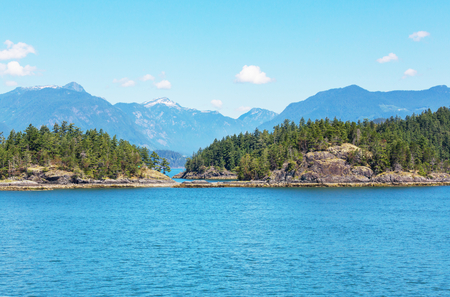 Vancouver Island. Canada. Beautiful sunny day in summer season. 版權商用圖片