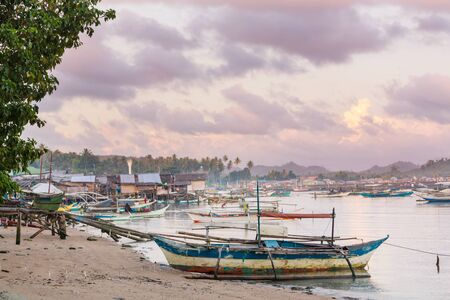 Traditional fishing village in Palawan island, Philippines