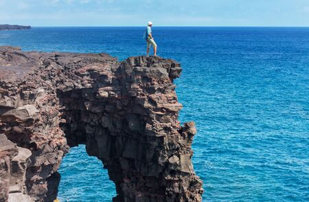 Volcanic arch on Big island, Hawaii 스톡 콘텐츠