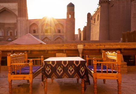 Ancient city of Khiva, Uzbekistan. Stockfoto