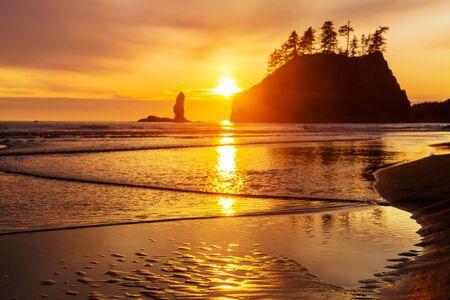 National Park landscapes in sunset 스톡 콘텐츠