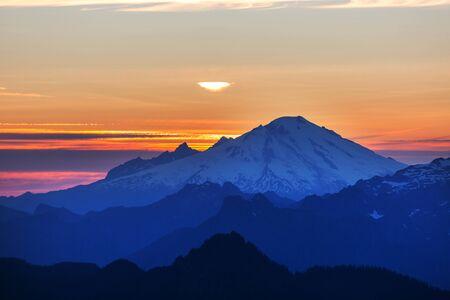 Beautiful mountain peak in North Cascade Range, Washington