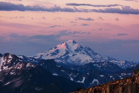 Beautiful mountain peak in  North Cascade Range, Washington